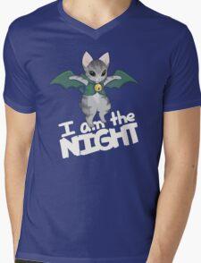 Gaelikitten - I am the NIGHT (off  white) Mens V-Neck T-Shirt