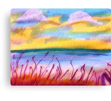 Beachy scene, watercolor Canvas Print