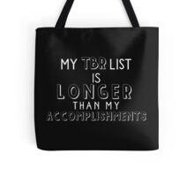 TBR List (White) Tote Bag