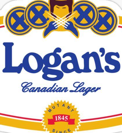 Logan's Canadian Lager Sticker