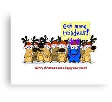 Rainer Galea's 'Christmas Reindeer' Canvas Print