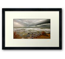 heavy rain at Estoril Framed Print
