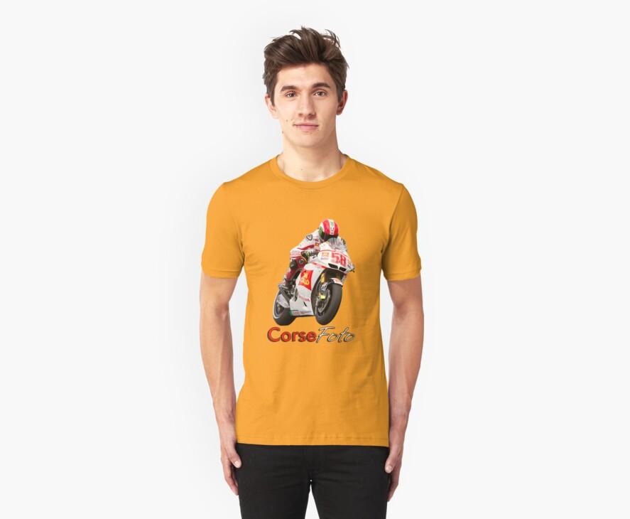 Marco Simoncelli T-Shirt/Sticker by corsefoto