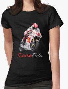Marco Simoncelli T-Shirt/Sticker Womens Fitted T-Shirt