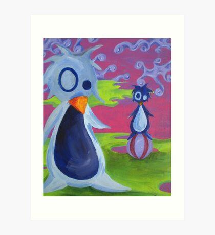 Penguin Ball Art Print