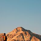 Hiker near the Dead Sea by johnnabrynn