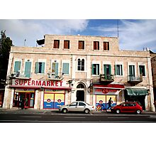 Jerusalem Supermarket Photographic Print