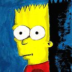 a cartoon portrait of bart simpson by StuartBoyd