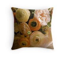 Pink and Peach Throw Pillow