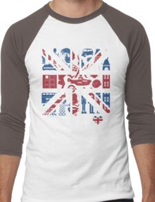 British @ Heart Men's Baseball ¾ T-Shirt
