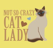 NOT-SO-CRAZY cat lady  Kids Tee