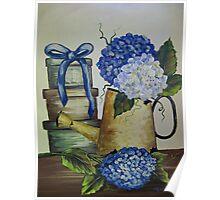 Blue Hydrangeas - Acrylic Poster