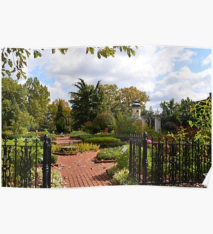 Open Gate to an Herb Garden Poster