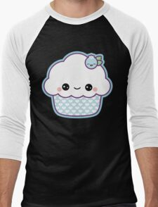 Cute Blueberry Cupcake Men's Baseball ¾ T-Shirt