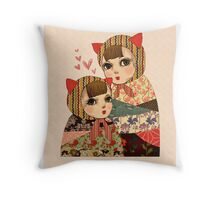 Kitty Pretty Throw Pillow