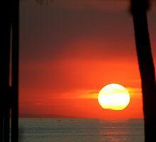 sunset over Manila bay by lensbaby