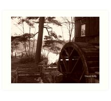 Old Sturbridge Village Mill Wheel, Autumn 2011 Art Print