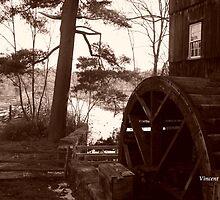 Old Sturbridge Village Mill Wheel, Autumn 2011 by ZeroLimitStudio