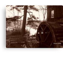 Old Sturbridge Village Mill Wheel, Autumn 2011 Canvas Print