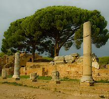 Street in Ostia Antica by Quixotegraphics