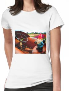 Rusty Fields Gnome Womens Fitted T-Shirt