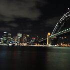 Sydney Harbour Bridge at Night by bazookatooth