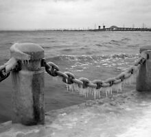 Icy Breakwater by BonnieToll