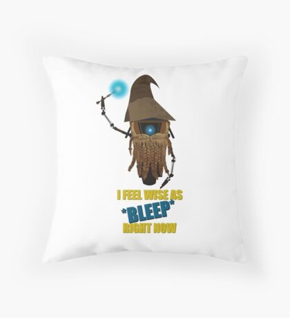 CLAPTRAP WIZARD! Throw Pillow