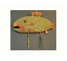 Key Chain Fish #1 (SOLD) Art Print