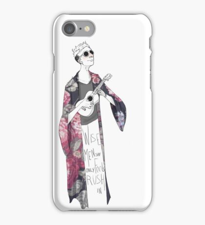 only fools rush in iPhone Case/Skin
