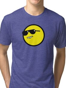 Cool Glasses Face Tri-blend T-Shirt