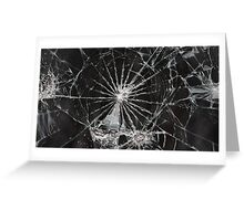 cracked screen Greeting Card