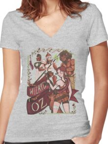 The Wizard of Oz {REMIX} Women's Fitted V-Neck T-Shirt