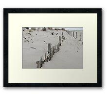 lines in dune Framed Print