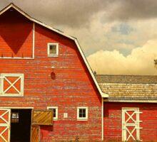 Red Heritage Barn Sticker