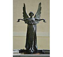 Beautiful Angel Sculpture Fountain Photographic Print