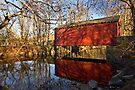Fall at the Ashland Covered Bridge by cclaude