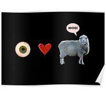 I love ewe - greeting card Poster