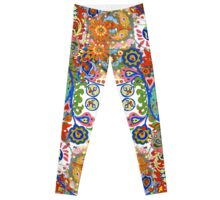 Paisley Flower Doodles 2  Leggings