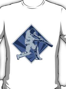 cricket player batsman batting retro T-Shirt