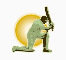cricket player batsman batting retro Unisex T-Shirt
