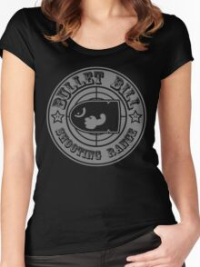 BULLET BILL SHOOTING RANGE Women's Fitted Scoop T-Shirt