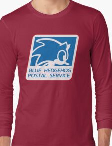 BLUE HEDGEHOG POSTAL SERVICE Long Sleeve T-Shirt