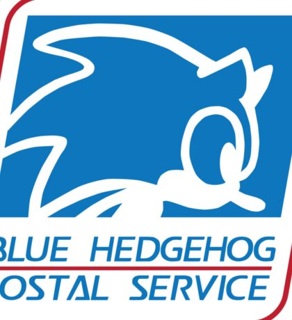 BLUE HEDGEHOG POSTAL SERVICE Sticker