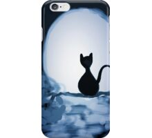Luna: the cat and the moon iPhone Case/Skin