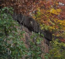 Autumn Colors, Brunswick Community Garden, Harsimus Branch Embankment, Jersey City, New Jersey Sticker