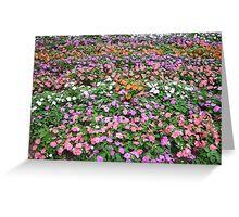 Waves of Grandoise Flowers Greeting Card