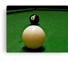 Behind the 8 Ball? Canvas Print