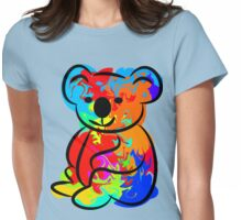 Colorful Koala Womens Fitted T-Shirt