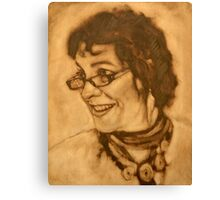 The Jill block-in in raw umber Canvas Print